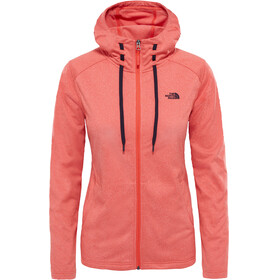 The North Face W's Tech Mezzaluna Hoodie Women Fire Brick Red Heather